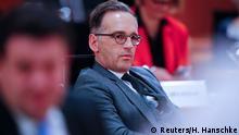 Aussenminister Heiko Maas bei einer Kabinettsitzung zum Thema Corona