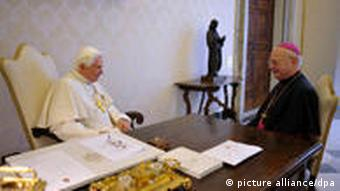 Pope Benedict XVI meets with German Archbishop Robert Zollitsch