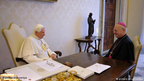 Бенедикт XVI принимает главу германской конференции католических епископов архиепископа Цоллича