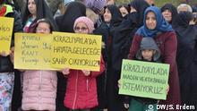 Proteste gegen den geplanten Bau eines Bergwerks verwenden. Stichwörter: Kirazyayla, Bursa, Meyra, Yenisehir, Maden, Umwelt, Türkei, Ökologie Credit: Safak Erdem.