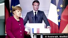 Berlon | Videokonferenz Emmanuel Macron und Angela Merkel