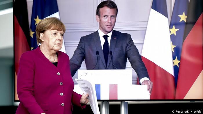 El presidente francés, Emmanuel Macron, y la canciller alemana, Angela Merkel, propusieron un fondo de reactivación de 500.000 de euros para ayudar a la Unión Europea a afrontar la recesión provocada por la pandemia del coronavirus.