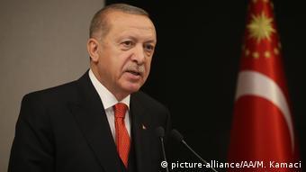 Der türkische Präsident Erdogan (picture-alliance/AA/M. Kamaci)