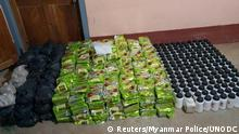 انواع مواد مخدر ضبط شده در روستایی واقع در ایالت شان میانمار متعلق به کارتل سم گور