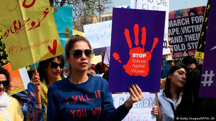 تظاهرات زنان پاکستانی به خاطر خشونت علیه زنان/عکس از آرشیف
