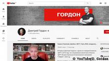 Screenshot YouTube Dmytro Gordon