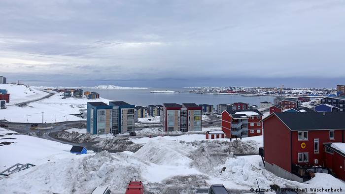 A shot of the bay of Nuuk, Greenland's capital