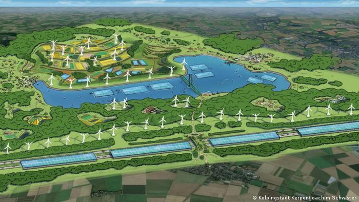 Gezeichnete Vision vom Tagebau Hambach