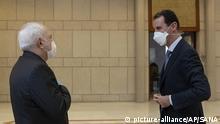 Bashar Assad und Mohammad Javad Zarif