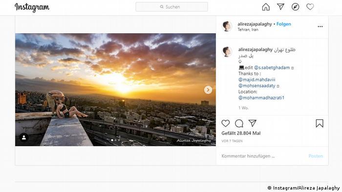 Screenshot Instagram Alireza Japalaghy Iran (Instagram/Alireza Japalaghy)