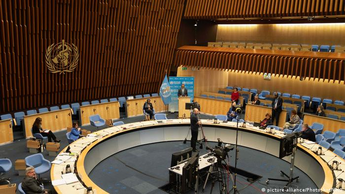 World Health Organization (WHO) Director-General Tedros Adhanom Ghebreyesus speaks at the 73rd World Health Assembly (WHA) at the WHO headquarters in Geneva, Switzerland, May 18, 2020.