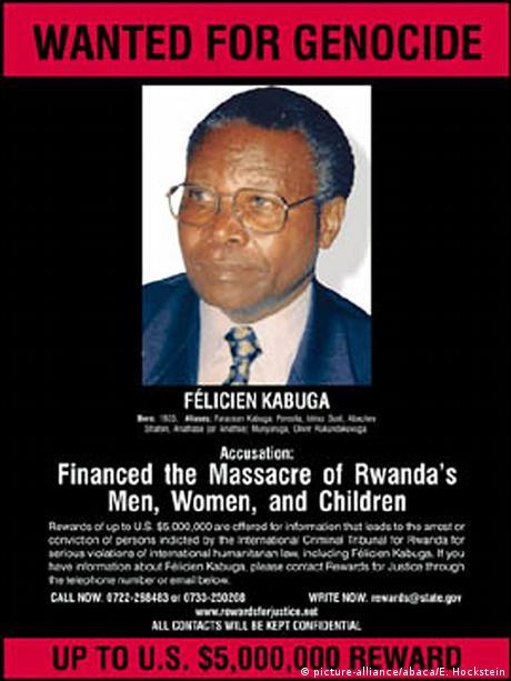 Gesucht-Poster Felicien Kabuga