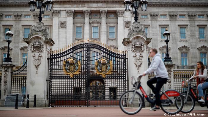 Großbritannien, London: Fahrradfahren in Zeiten von Corona (Getty Images/AFP/T. Akmen)