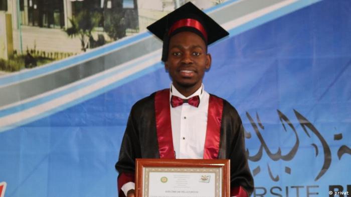 Algerien mosambikanischer Student Dálio S. Massingue