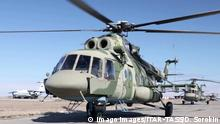 TYVA REPUBLIC, RUSSIA - APRIL 26, 2020: Mil Mi-8 helicopters of Russia s Central Military District that have taken part in extinguishing wildfires in the Republic of Tyva. Press Office of the Russian Central Military District/TASS PUBLICATIONxINxGERxAUTxONLY TS0D71EB