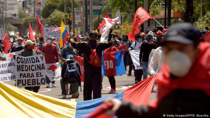 Ecuador Corona-Pandemie Protest gegen Reformen