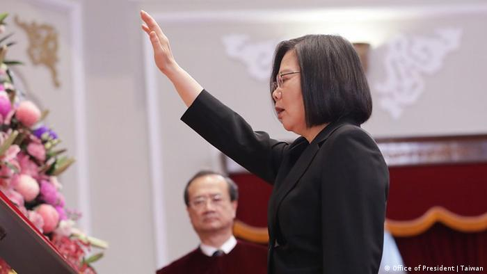 2020年5月20日,获得连任的蔡英文宣誓就职。