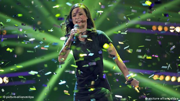 Lena Meyer-Landrut at the glitzy German-level Eurovision finals
