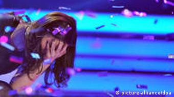 Lena Meyer-Landrut at the the German finals on March 12 in Cologne