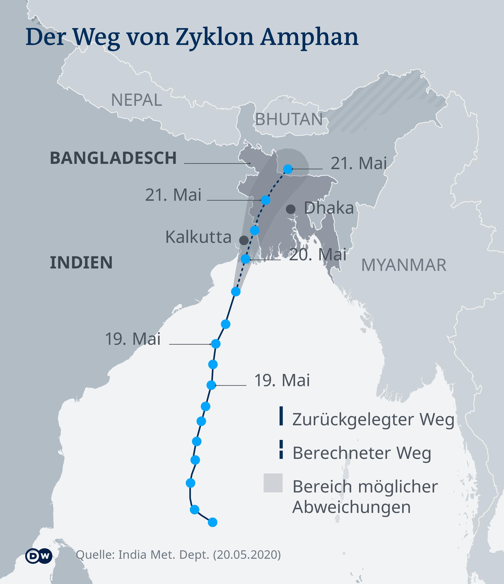 Infografik Zyklon Amphan Stand 20.05.2020 DE