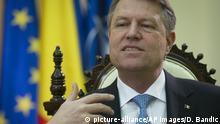 Rumänien Präsident Klaus Johannis