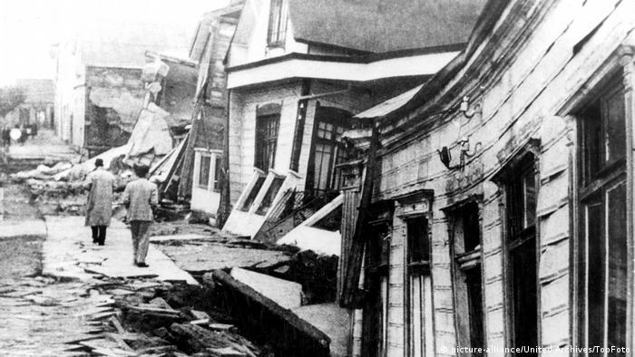 Tarihte kaydedilen en büyük deprem, 1960 yılında Şili'yi vurdu. Depremin büyüklüğü 9,5'ti.