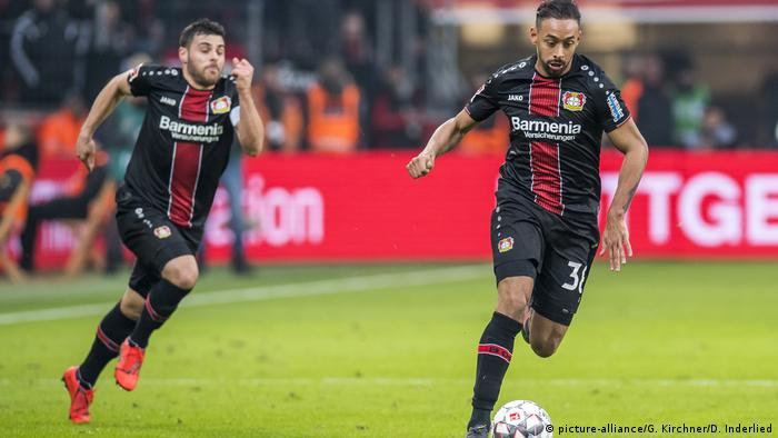 Kevin Volland and Karim Bellarabi (picture-alliance/G. Kirchner/D. Inderlied)