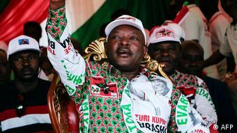 Burundi Wahlkampf Präsident Pierre Nkurunziza