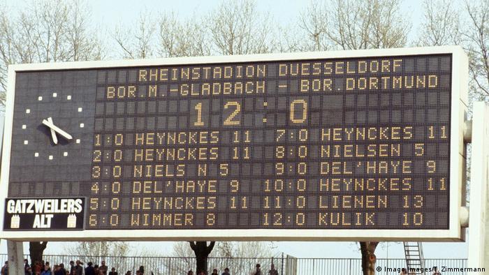 Rekordergebnis Borussia Mönchengladbach vs Brrussia Dortmund (Imago Images/T. Zimmermann)