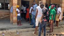 20.05.2020 Wähler vor Wahllokal