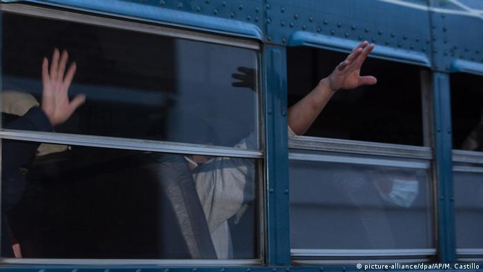 Guatemala Guatemala-Stadt | Coronavirus: Aus den USA abgeschobene Guatemalteken (picture-alliance/dpa/AP/M. Castillo)