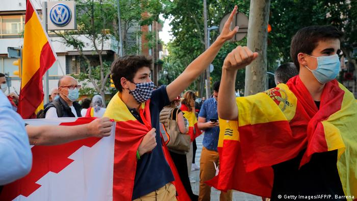 Corona-Proteste in Spanien (Getty Images/AFP/P. Barrena)