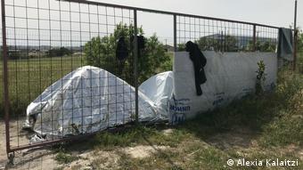 Σκηνές έξω από τον καταυλισμό στα Διαβατά