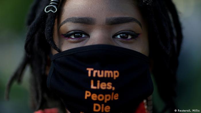Кадър от протест срещу Тръмп