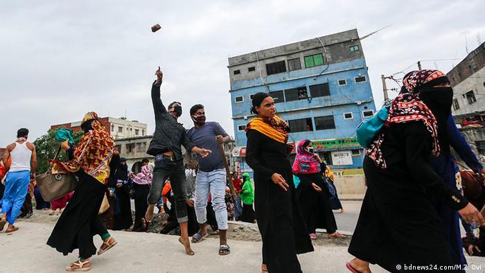 Bangladesch Dhaka Proteste von Textilarbeitern (bdnews24.com/M.Z. Ovi)