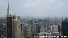 Skyline von Nairobi. Blick auf die kenianische Hauptstadt von der Aussichtsplattform des Kenyatta Conference Centre 24.02.2017 Foto: Klaus Blume/dpa | Verwendung weltweit