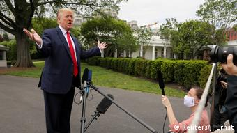 USA Donald Trump PK Weißes Haus (Reuters/J. Ernst)