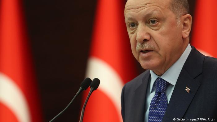 الرئيس أردوغان في أنقرة (18 مارس/ آذار 2018)