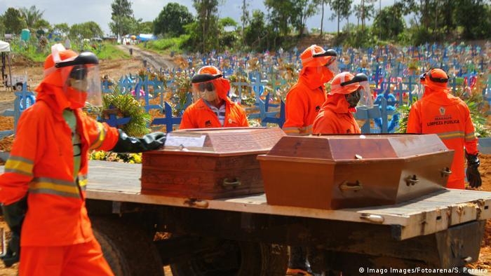 Enterros de vítimas da covid-19 em Manaus