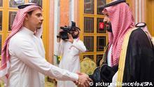 Saudi-Arabien Salah Khashoggi mit Kronprinz Mohammed bin Salman
