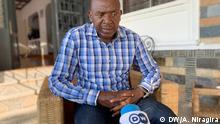 Der Führer der wichtigsten Oppositionspartei in Burundi, Agathon Rwasa, in einem Interview mit Antéditeste Niragira, der Korrespondent der Deutschen Welle in Burundi, ein Tag nach den Wahlen vom 20. Mai 2020 Copyright: Antéditeste Niragira, DW