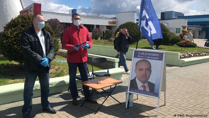 Belarus Minsk | Wahlkampf Präsidentschaftswahl | Oleg Gajdukewitsch, Kandidat