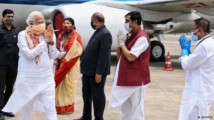 Indian Prime Minister Narendra Modi arrives in Kolkata
