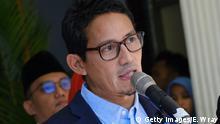Indonesien Sandiaga Uno Vizepräsidentschaftskandidat 2019
