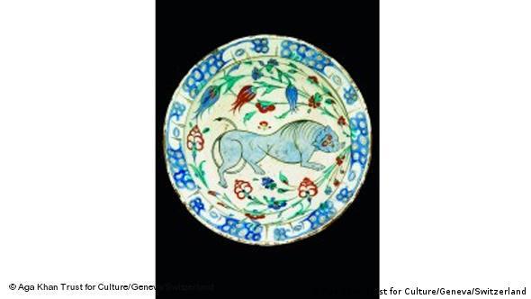 Тарелка со львом. Турция, 16 век