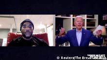 Charlamagne Tha God mit Joe Biden