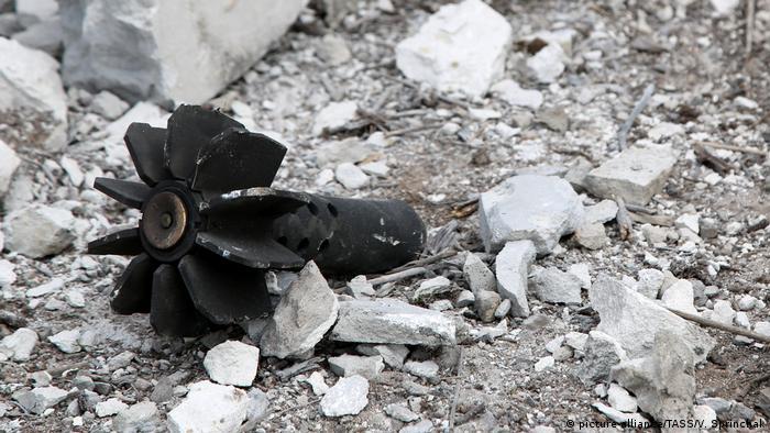 Последствия обстрела в Ясиноватском районе Донецкой области Украины