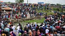 Bangladesch Menschen verlassen Dhaka vor dem Eid Fest