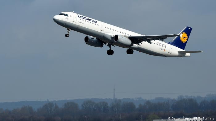 An Airbus plane of German airline Lufthansa PATRIK STOLLARZ/AFP via Getty Images)