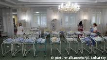 Ukraine Kiew Babys von Leihmüttern im Hotel